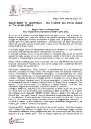 Comunicato stampa stazione Reggio Emilia AV ... - FSNews