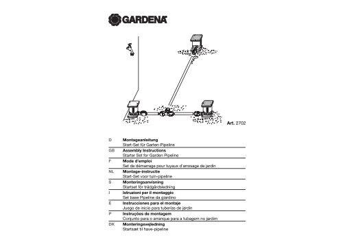 OM, Gardena, Set de démarrage pour tuyaux d'arrosage de jardin ...