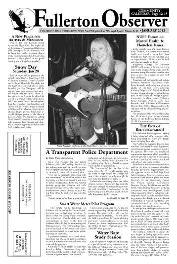 january 2012 - Fullerton Observer