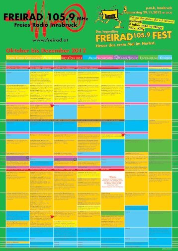 Oktober bis Dezember 2012 - Freirad