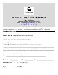 application for a special event permit - City of Gaithersburg