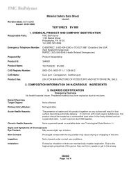 Material Safety Data Sheet TEXTUREZE BV 800 1. CHEMICAL ...