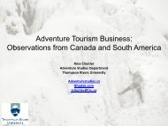 Adventure Tourism Business: Observations from ... - Fjord Norway