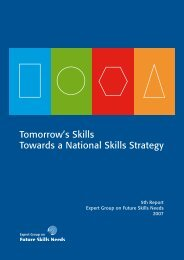 National Skills Strategy Report - Tomorrow's Skills: Towards a ...