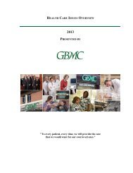 to download a copy of GBMC's 2013 Healthcare Issues Overview.