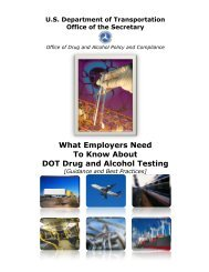 What Employers Need To Know About DOT Drug and Alcohol Testing