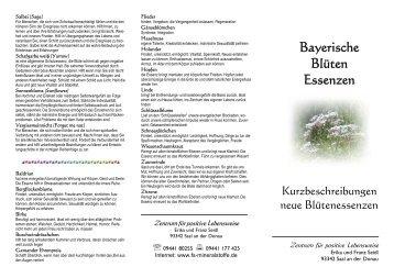 Bayerische Blüten Essenzen