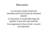 Meccanica - Fisica