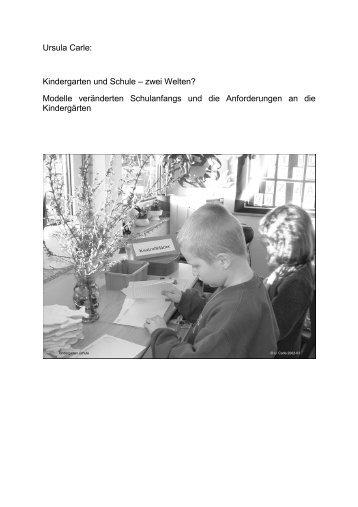 Kindergarten und Schule Πzwei Welten