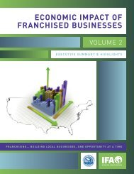 economic impact of franchised businesses - International Franchise ...