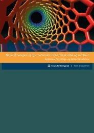 Nanoteknologier og nye materialer - De nasjonale forskningsetiske ...