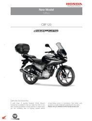 New Model CBF125 - Honda