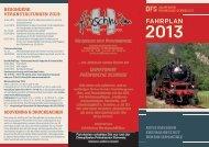 Fahrplan 2013 - Die Fränkische Schweiz