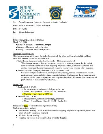 Professional Memo - Pennsylvania Fish and Boat Commission