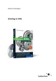 Einstieg in XML - Galileo Computing