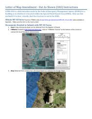 Letter of Map Amendment - Out As Shown (OAS) Instructions