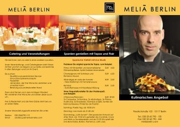 Kulinarisches Angebot - flair Berlin