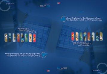 Brochure institutionnelle de l'EIA-FR - Gate24.ch