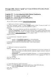 Capitolo 22° - Le investigazioni della Polizia Giudiziaria. Capitolo 31 ...
