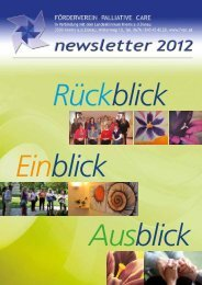 newsletter 2012 - Förderverein Palliative Care