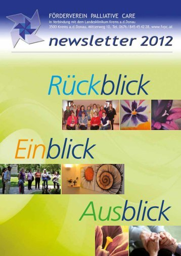 newsletter 2012 - Förderverein Palliative Care