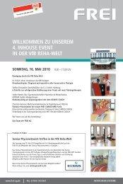 Einladung in die VfB Reha-Welt - Frei AG