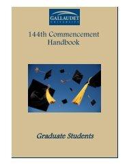 Graduate student handbook - Gallaudet University