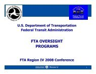 Day 2 - Vb - Oversight Programs - White - Federal Transit ...