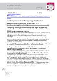 AFDELING FINANCIËN Attendering van onderwijskundige en ...