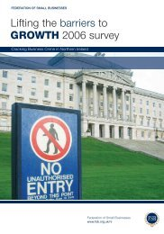 Lifting the barriers to GROWTH 2006 survey - Federation of Small ...