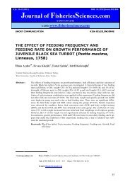 THE EFFECT OF FEEDING FREQUENCY AND FEEDING RATE ON ...