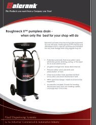 Roughneck II™ pumpless drain - when only the best for your shop ...