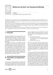 Redeneren als basis voor begripsontwikkeling - Freudenthal ...