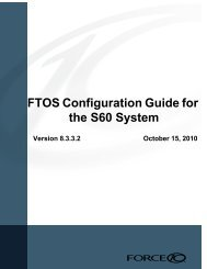 FTOS Configuration Guide for the S60 System - Force10 Networks