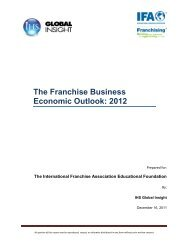 The Franchise Business Economic Outlook: 2012 - International ...
