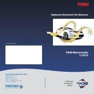 PKW-Motorenöle 1 / 2013 - fuchs europe schmierstoffe gmbh