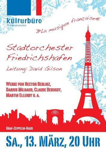 Sa., 13. März, 20 Uhr - Friedrichshafen