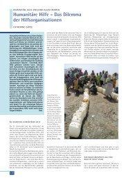 Humanitäre Hilfe – Das Dilemma der Hilfsorganisationen - Institut für ...