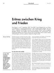 Eritrea zwischen Krieg und Frieden