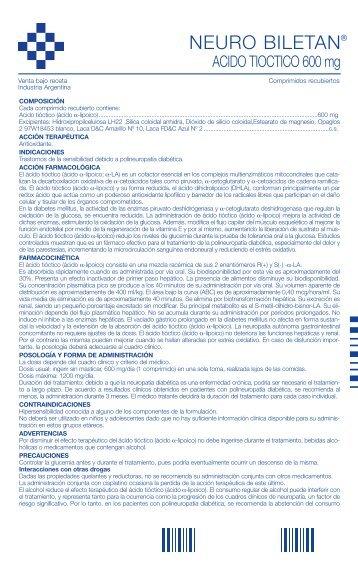 Neuro biletan prospecto - Gador SA