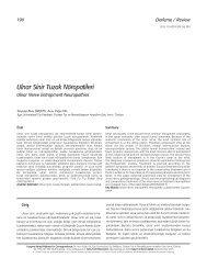 Ulnar Sinir Tuzak Nöropatileri - Türkiye Fiziksel Tıp ve ...