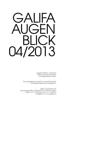 Galifa Augenblick_04 2013.pdf - Galifa Contactlinsen AG