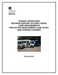 Transit Operations Decision Support System (TODSS) Core ...