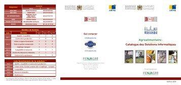 Agroalimentaire : Catalogue des Solutions Informatiques - Anpme..
