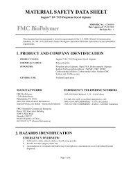 Isagum(tm) BV 7535 Propylene Glycol Alginate - FMC Corporation