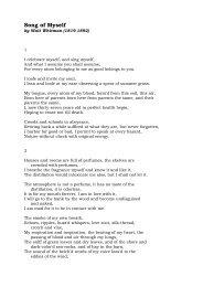 Whitman Song of Myself