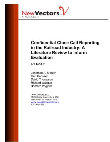 A Literature Review to Inform Evaluation - Hanssen Consulting