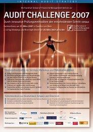 AUDIT CHALLENGE 2007 - Frankfurt School Verlag