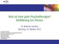 Roland Stettler - Was ist eine gute Psychotherpie? - Sonnenhalde