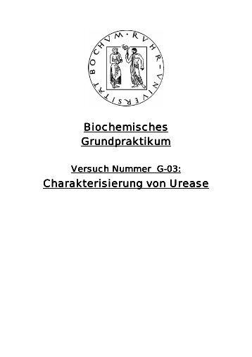 Charakterisierung von Urease - funnycreature.de